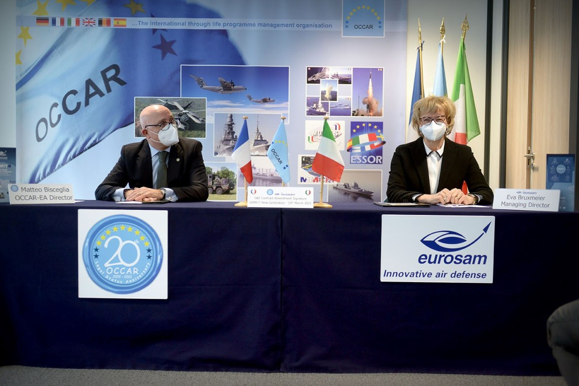 Eurosam SAMP/T Air Defence System (ADS) contract signing