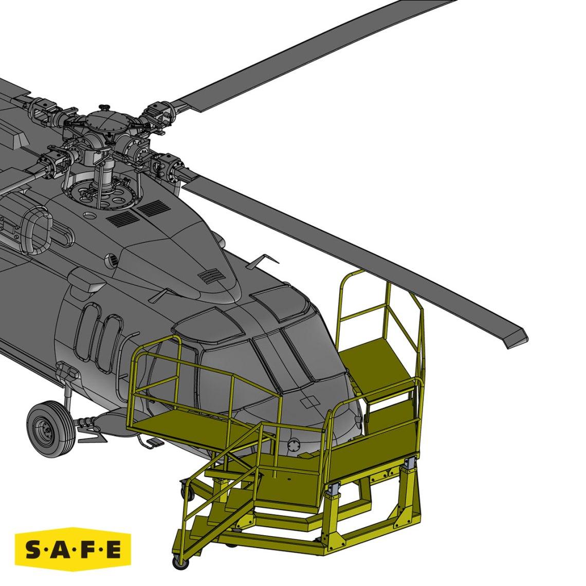 Sikorsky Rotor Wing Aircraft Maintenance Platforms