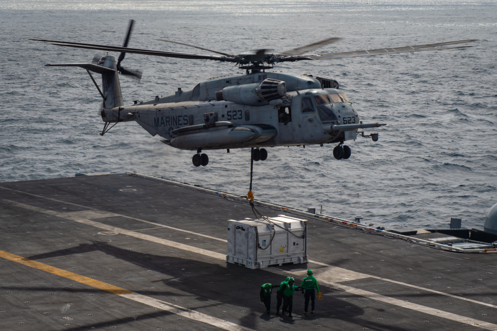US Navy Conducts First At-Sea F-35C Engine Power Module Replenishment