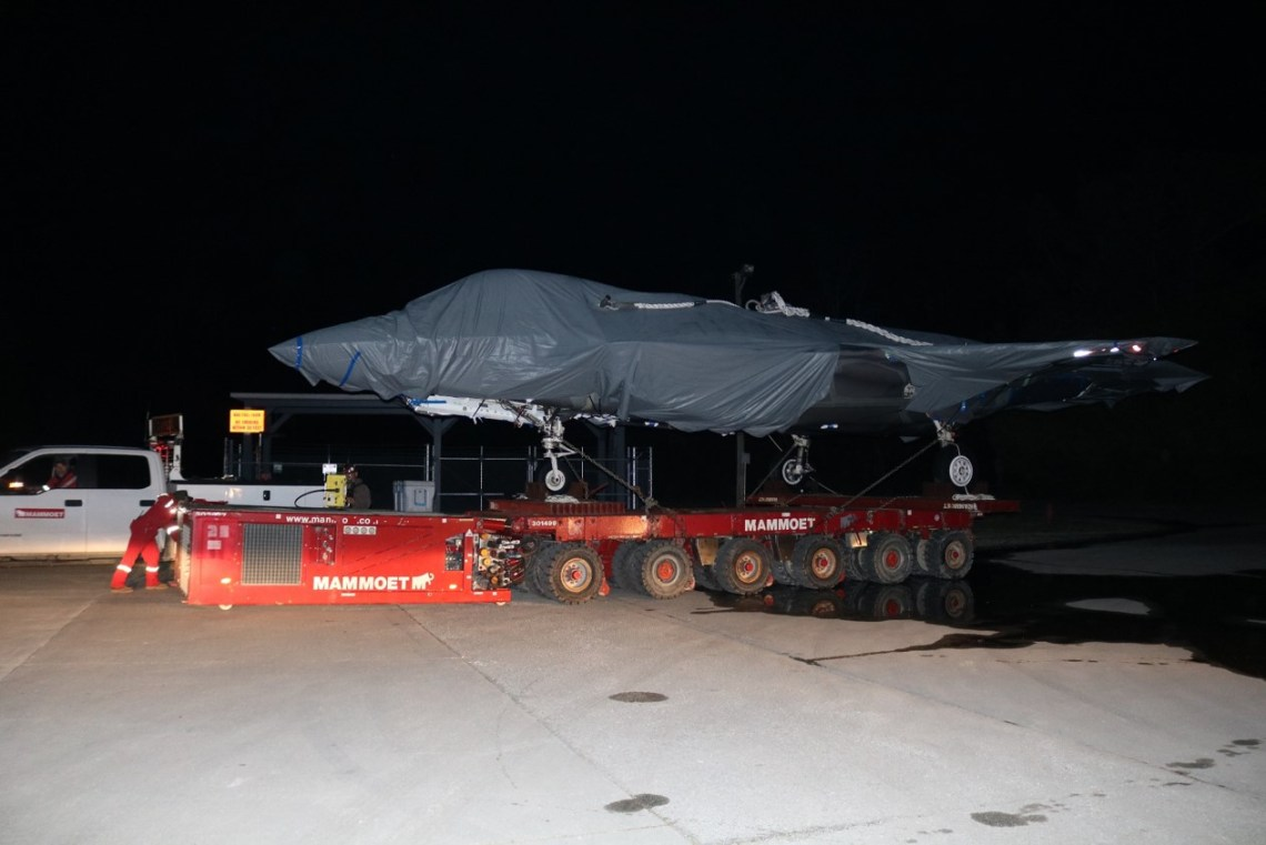 The US Navy's Fleet Readiness Center East (FRCE) has accepted delivery of an F-35 airframe from Marine Corps Air Station (MCAS) Beaufort in South Carolina.