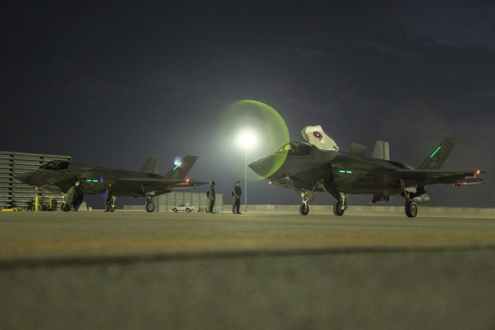 15th MEU F-35Bs support Agile Combat Employment at Al Udeid Air Base, Qatar