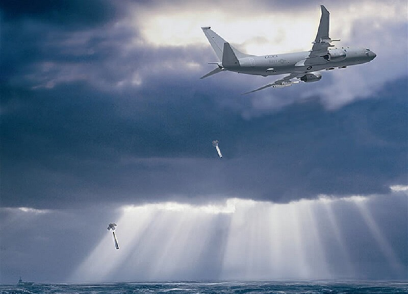 P-8A aircraft Dropping Sonobuoy