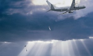 P-8A aircraft Dropping Sonobuoy