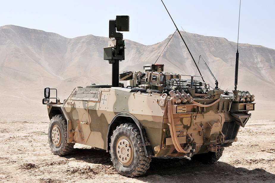 The BAA II sight system deployed on the German Army's Joint Fire Support Teams (JFST) Fenneks in Afghanistan.