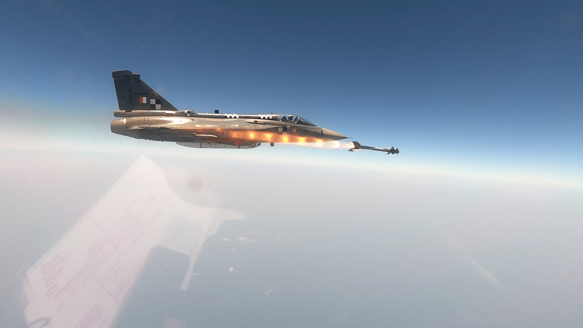 India Air Force HAL Tejas Conducts Maiden Trial of Python-5 Air to Air Missile