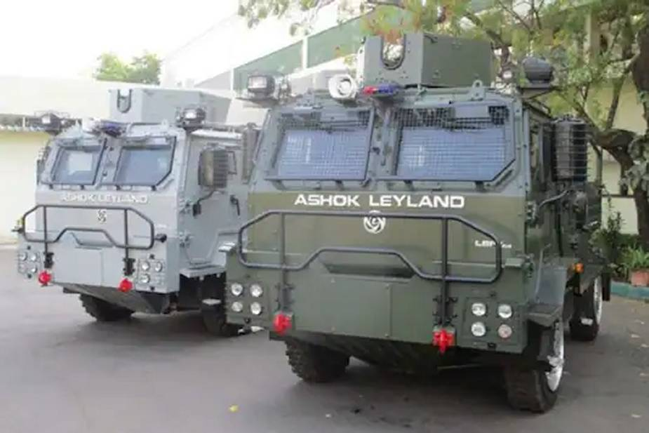 Indian Air Force Receives Light Bullet Proof Vehicles (LBPV) from Ashok Leyland