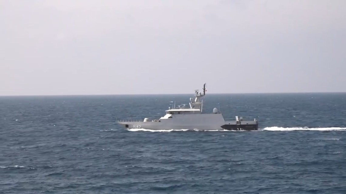 Indonesian Navy Clurit-class Fast Missile Craft In Sinking Exercise