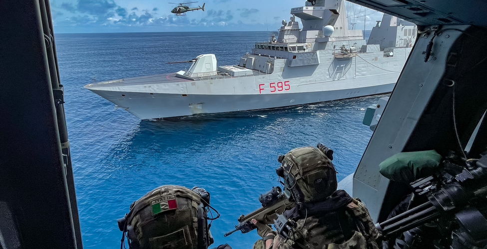 Italian Navy Frigate Luigi Rizzo Participated in Exercise Obangame Express 2021