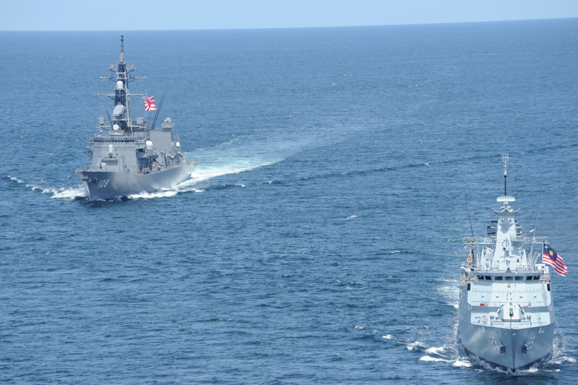 Japan Maritime Self-Defense Force JS Akebono Conducted Goodwill Exercice with Royal Malaysian Navy KD Jebat