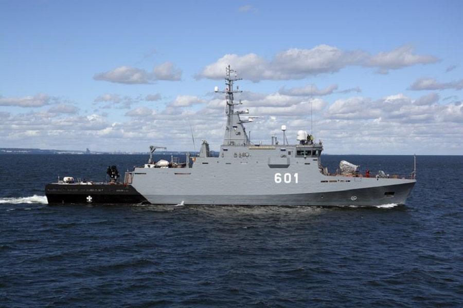 Polish Navy Kormoran MCM Vessel.