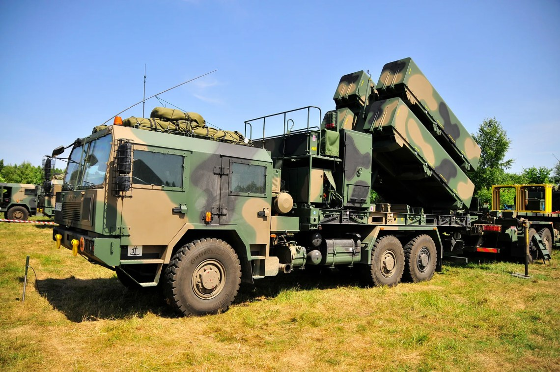 Polish Navy's Naval Strike Missile (NSM) Coastal Defense System launcher.