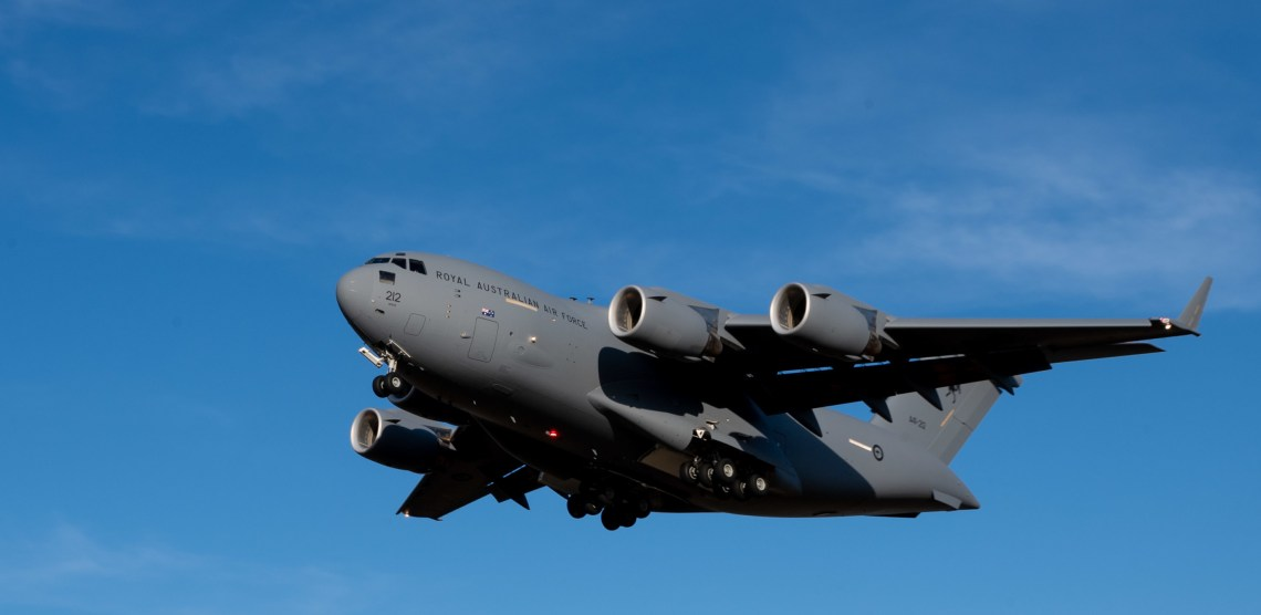 Royal Australian Air Force C-17 Globemaster III Picked Up Precision-guided Weapons at Dover Air Force Base