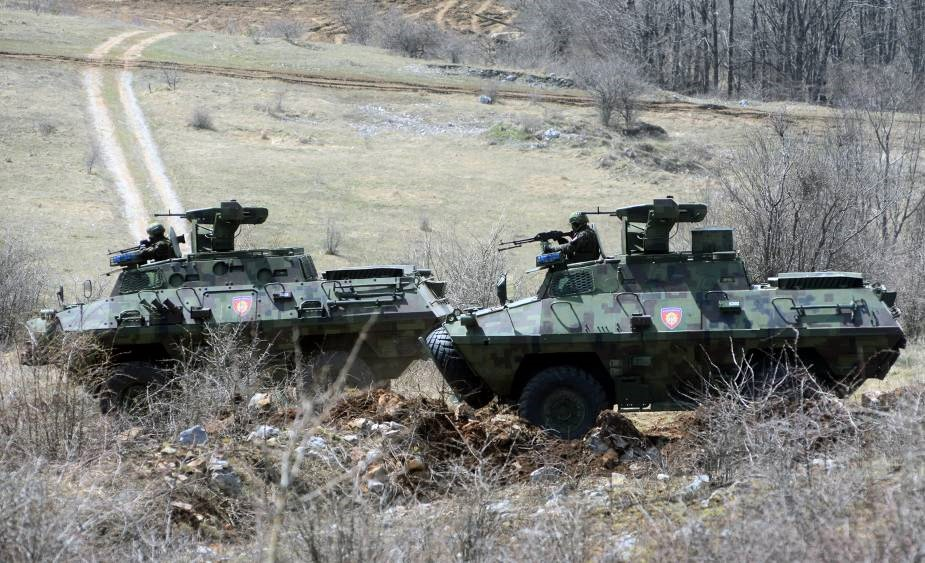 Serbian Armed Forces BOV-86M armoured personnel carrier