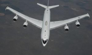 US Navy E-6B Mercury in-flight