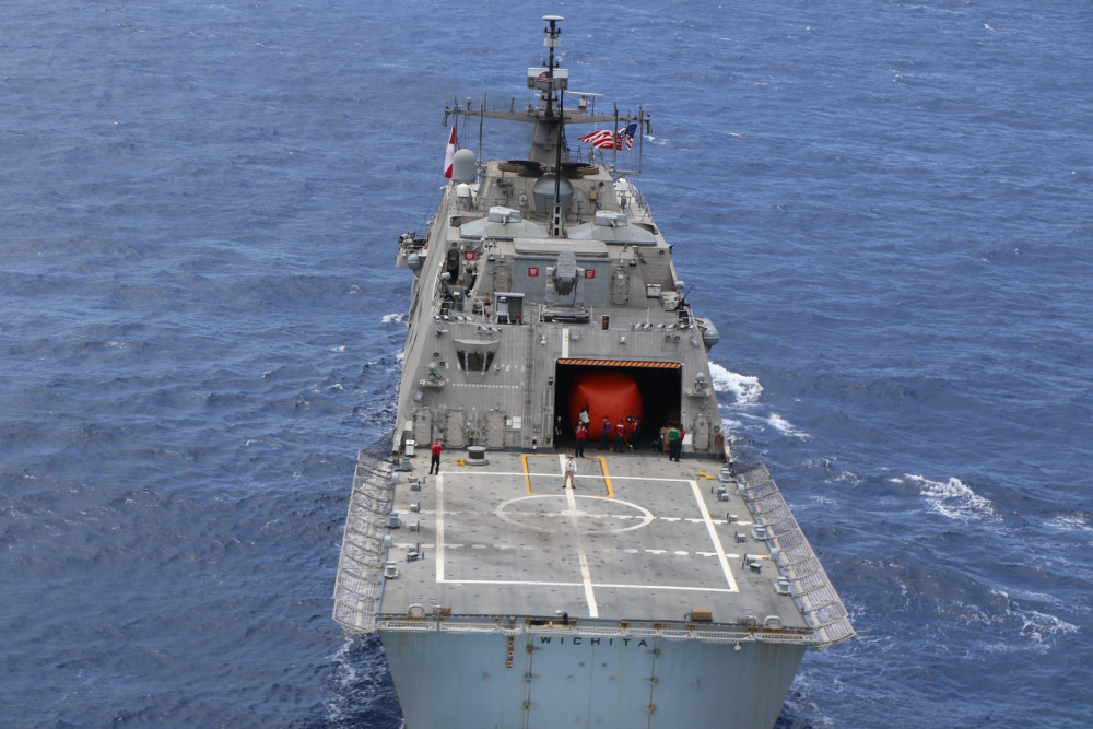 US Navy USS Wichita and Jamaica Defence Force Coast Guard HMJS Cornwall Conduct Live-Fire Exercise