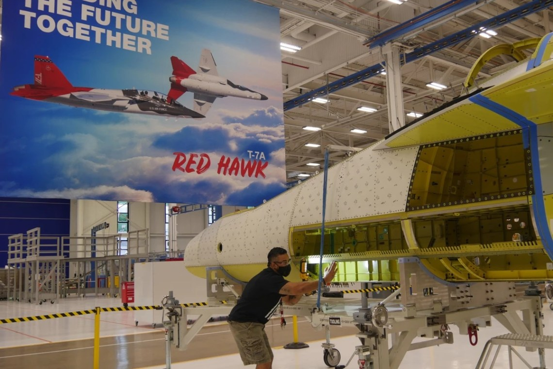 First Boeing-Saab T-7 Red Hawk Advanced Jet Trainer Joined in Record Time