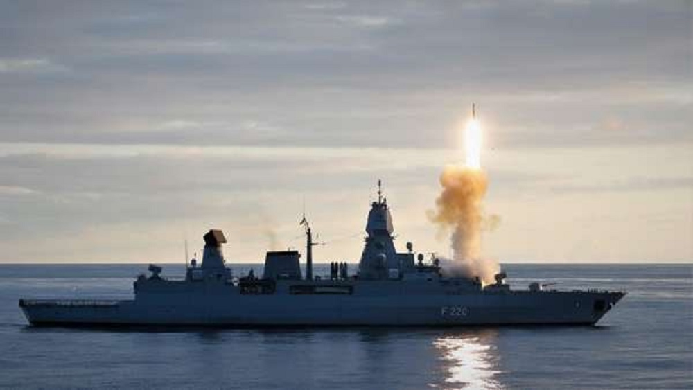 German Navy Frigate Hamburg Tests RIM-162 ESSM Surface-to-air Missiles Outside Northern Norway