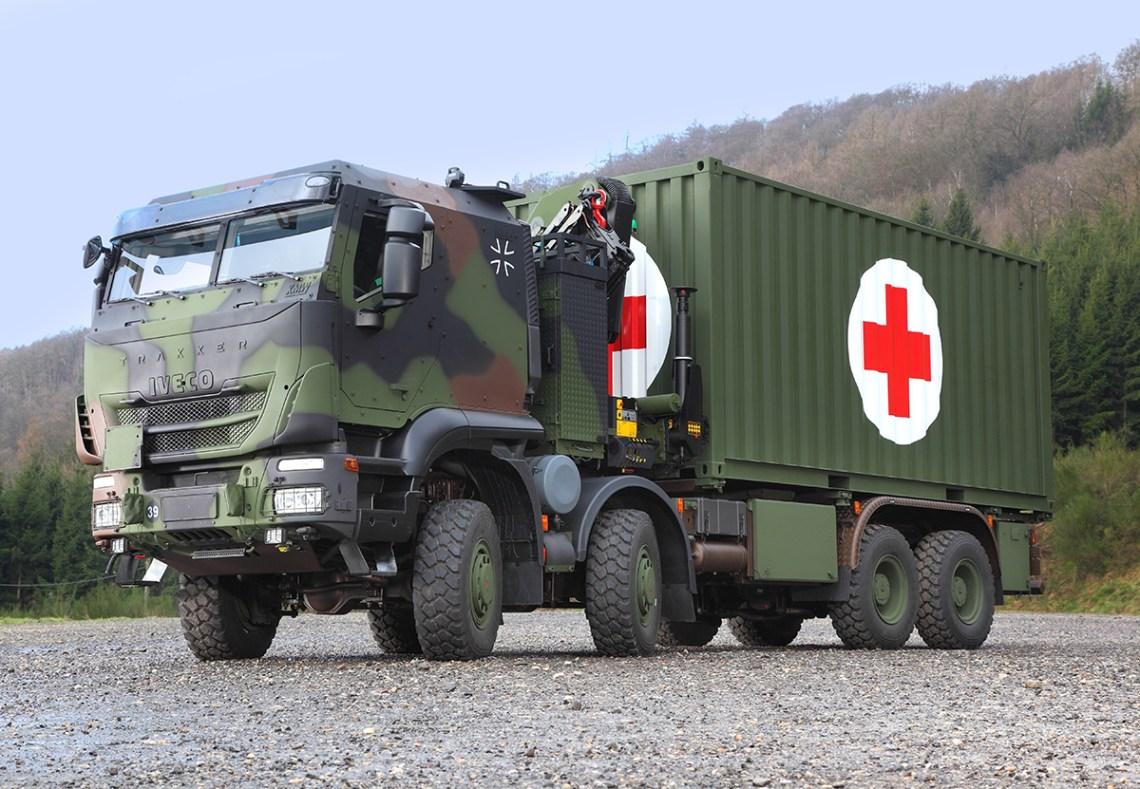 Krauss-Maffei Wegmann Produces IVECO Trakker Cabs for German Armed Forces