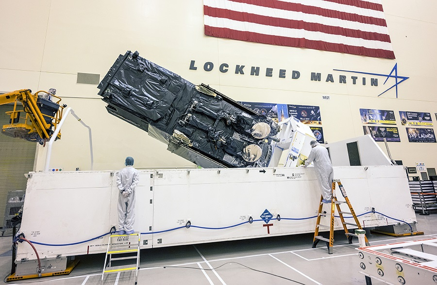 SBIRS GEO-5 Missile Warning Satellite Packing for Shipment to Cape Canveral