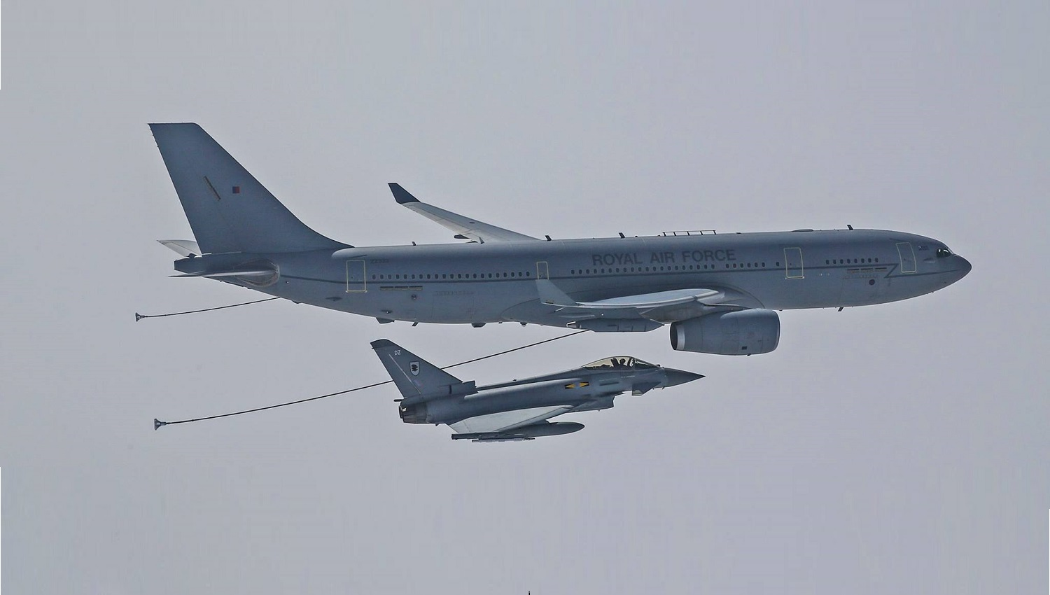 Royal Air Force Eurofighters and Voyager Take Part In First South East Asia Exercise