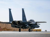 US Air Force 494th Expeditionary Fighter Squadron Transport Modified JDAM Munitions to UAE Base