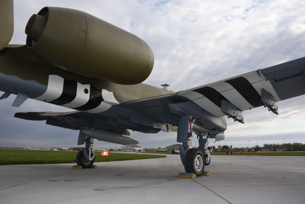 The paint scheme is designed to replicate the look of the original P-47 Thunderbolt as it appeared during the 2nd World War.