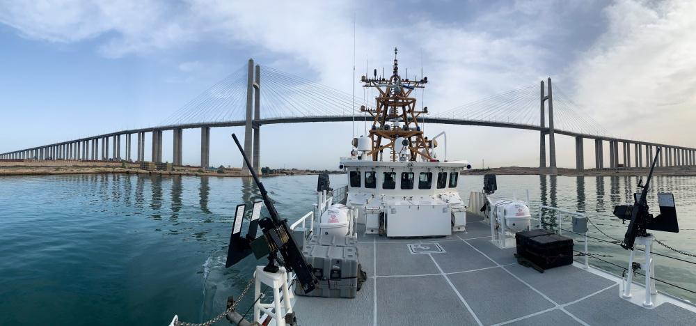 US Coast Guard USCGC Charles Moulthrope and Robert Goldman Transit Suez Canal