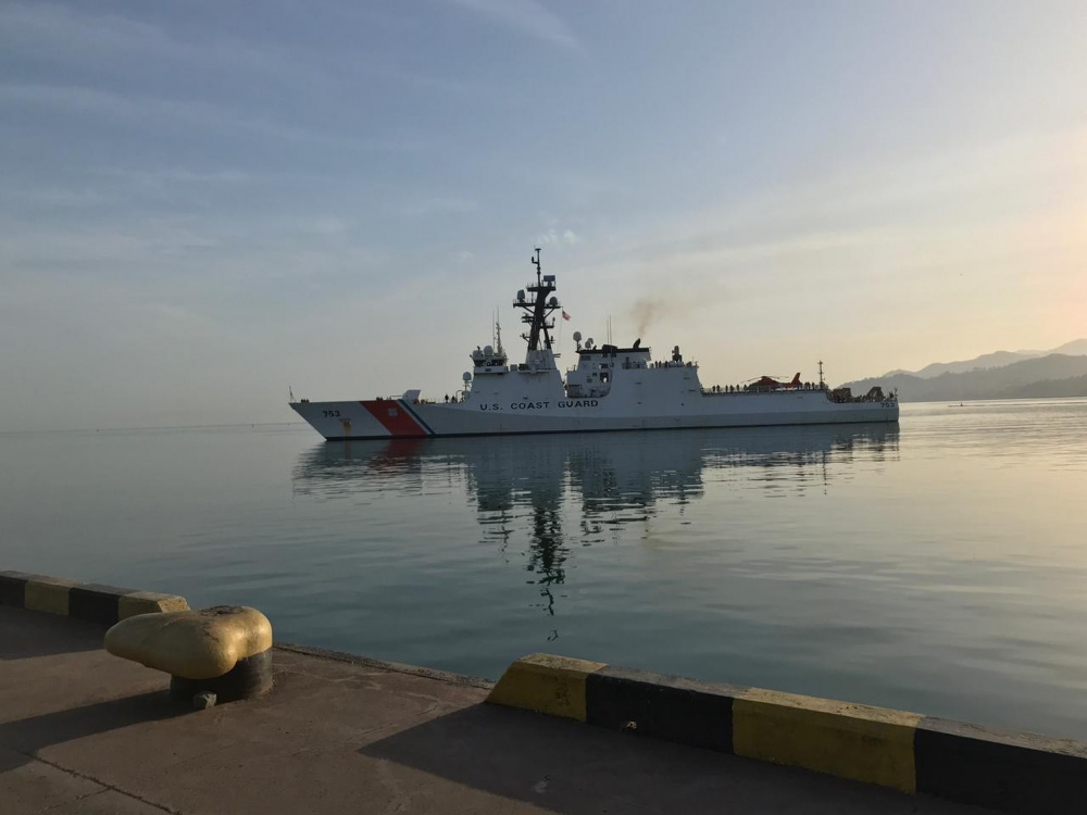 US Coast Guard USCGC Hamilton (WMSL 753) Conducts Port visit in Batumi, Georgia
