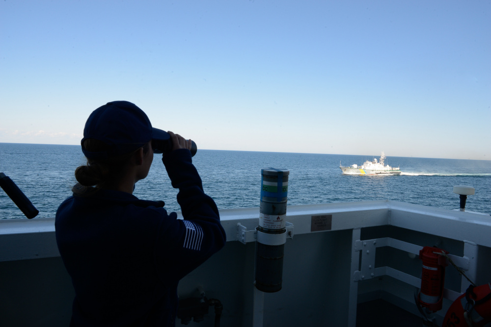 USCGC Hamilton conducts exercises with Ukraine