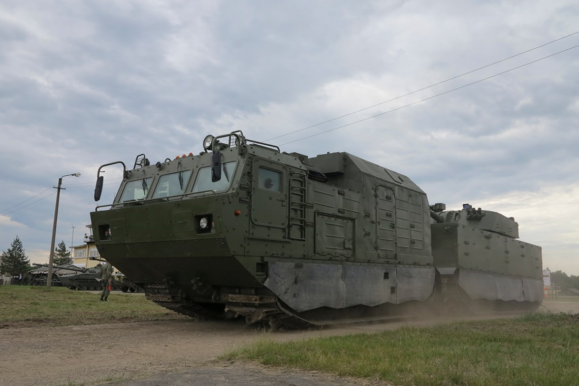 Magnolia self-propelled artillery system mounted
