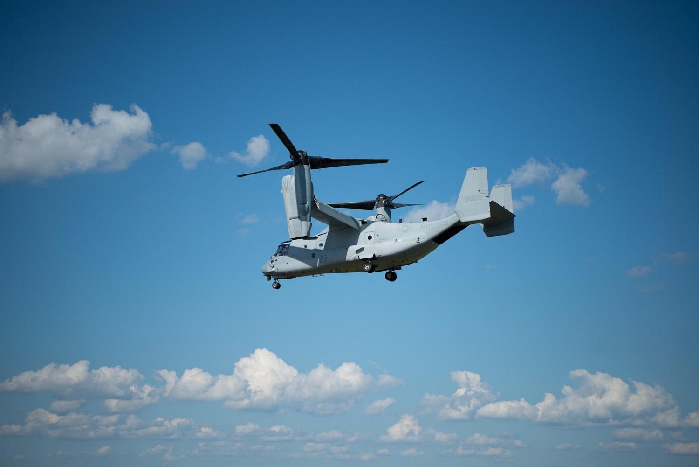 ALQ-231 Intrepid Tiger II Pod Takes First Flight on US Marine Corps MV-22B Osprey