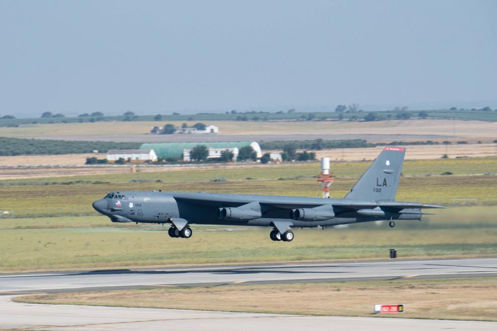 B-52 takes of at Morón Air Base for BTF operations