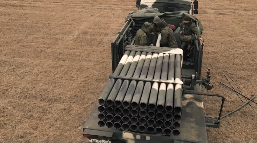 Belarusian Ground Forces Conducts Live-fire Test of BM-21B BelGrad-2 Multiple Launch Rocket System