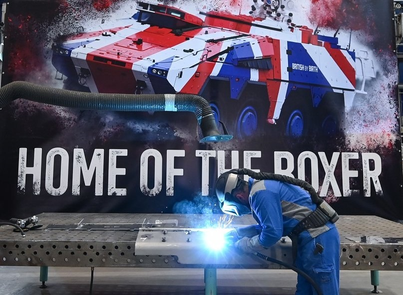 Britain's Boxer Series Production Sarts Exactly According to Plan at Rheinmetall's Kassel Plant