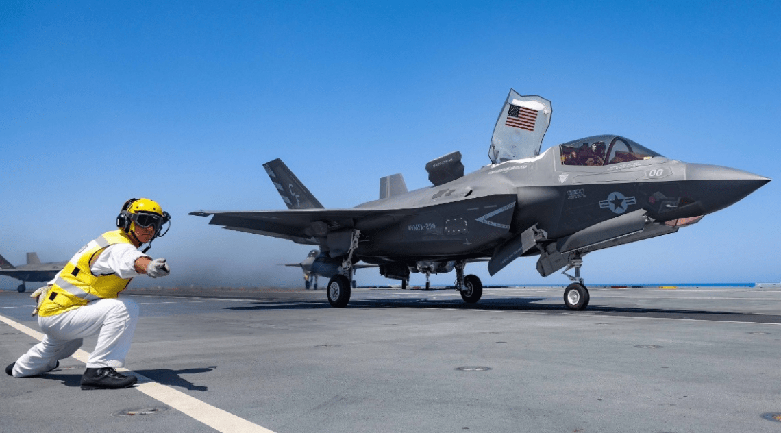 Exercise Falcon Strike Sees F-35 Fighters from Italian, US, UK and Israel Train Together
