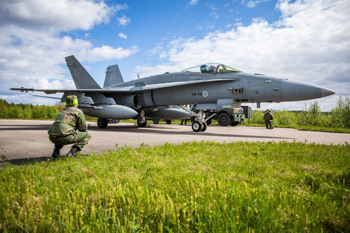 Finnish F-18s will be flying out of Lapland Air Command's Rovaniemi Air Base.