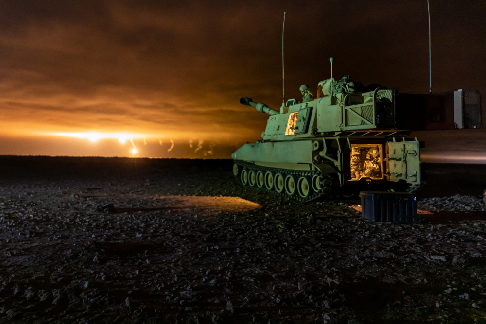 US Army M109A6 Paladin Howitzers Completes Multinational Night Live-fire in Morocco