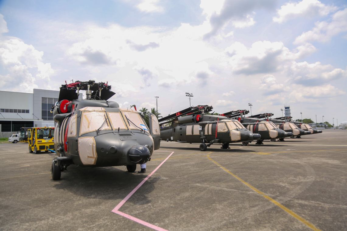 Philippine Air Force Receives Five More S-70i Black Hawk Combat Utility Helicopters