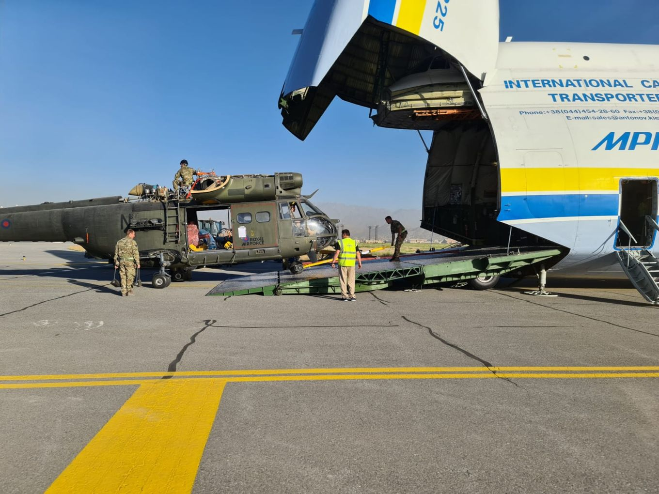 Royal Air Force Puma Transport Helicopter Detachment Returns from Afghanistan