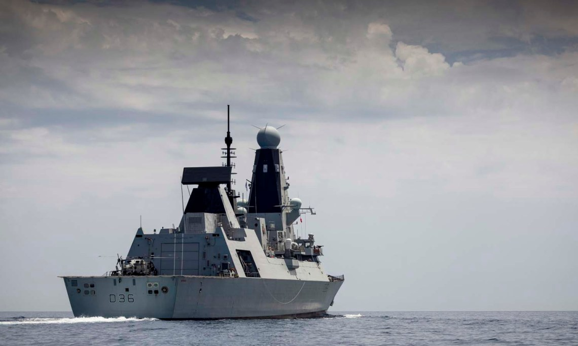 Royal Navy Daring-class air-defence destroyers HMS Defender.