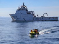 Russian and Royal Norwegian Navies Exercising Together in the Barents Sea