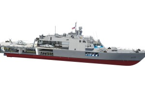 Team Freedom Lays Keel For Future US Navy USS Cleveland (LCS 31)