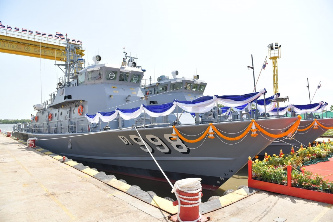Thailand's Marsun Shipyard Delivers Two Tor 997-class Patrol Boats to Royal Thai Navy