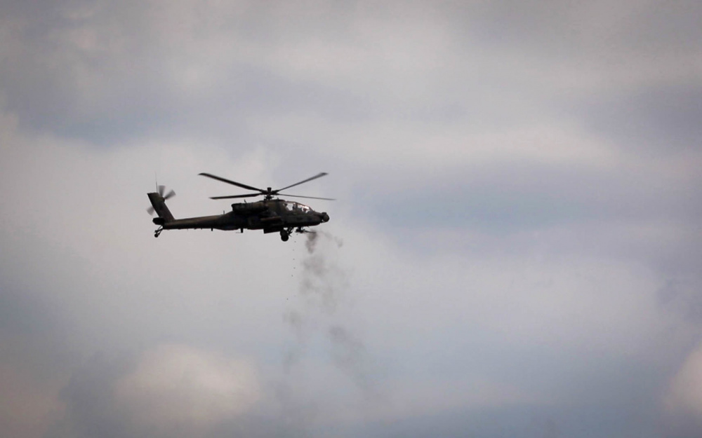 US Army 1-130th Attack Battalion Performs Live-fire Aerial Gunnery Training