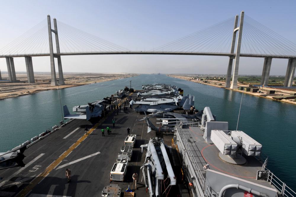 US Navy Iwo Jima Amphibious Ready Group (IWO ARG) Transit Suez Canal