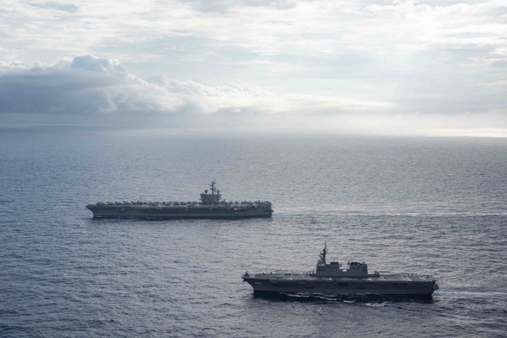 US Navy Ronald Reagan Carrier Strike Group Operates with Japan Maritime Self-Defense Force