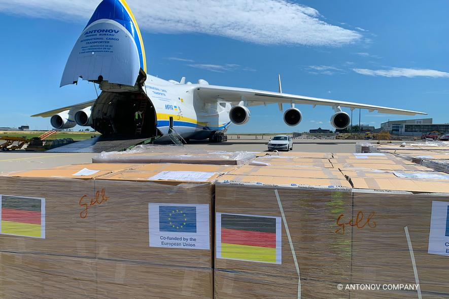 Antonov Airlines Carries Medical Supplies from Germany to Namibia Under NATO'S SALIS Programme