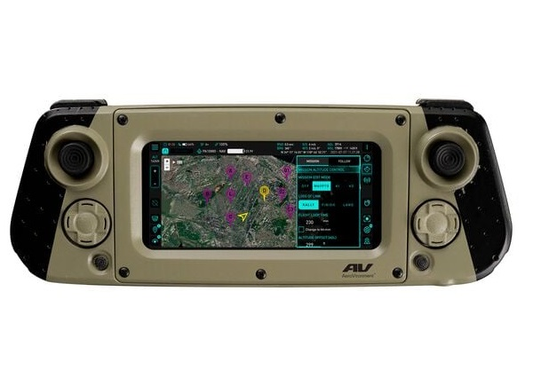 The user interface and hand device for AeroVironment's new Crysalis ground control solution for the company's robotic products.