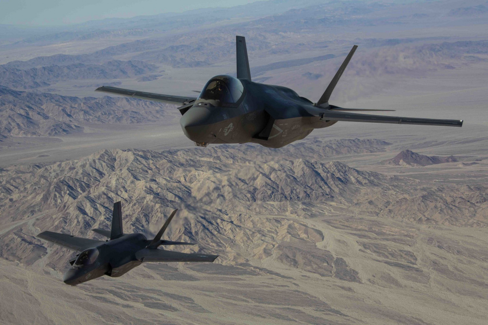 Marine Fighter Attack Squadron (VMFA) 314 declare their full operational capability (FOC) for the F-35C Lightning II