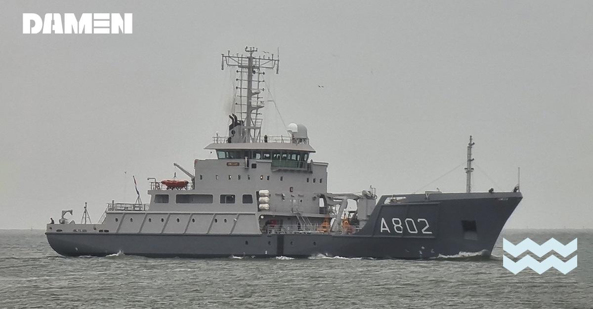 Royal Netherlands Navy HNLMS Snellius (A802) hydrographic survey vessel